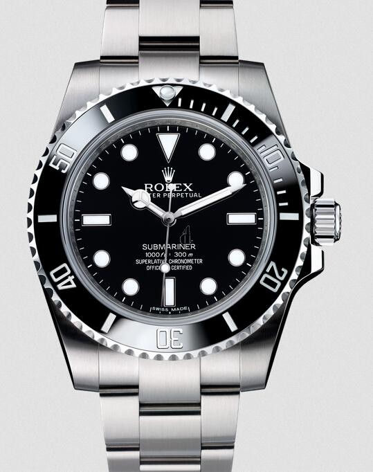 Fake Rolex Submariner No Date Stainless Steel Black Dial 114060.