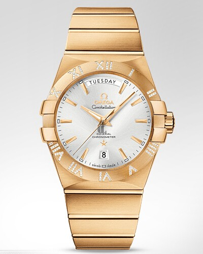 Omega Constellation Day-Date  watch replica 123.55.38.22.02.002