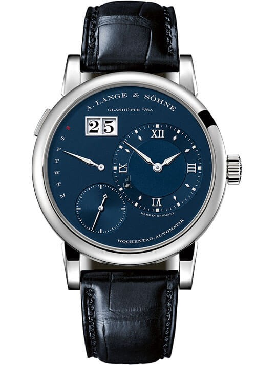 A. Lange & Sohne 320.028 Lange 1 Daymatic White Gold  Blue
