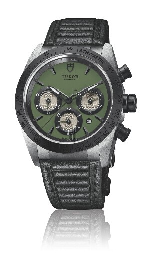 fake Tudor Fastrider Chronograph Steel and Black Ceramic 42010N Green unisex Watch