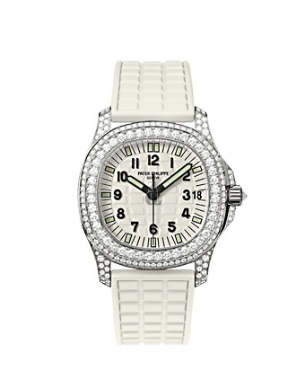 Fake Patek Philippe Aquanaut Luce Haute Joaillerie Pure White Ladies Watch 5069G-011