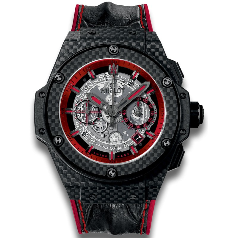 Hublot King Power Unico Carbon and Red 701.QX.0113.HR Replica