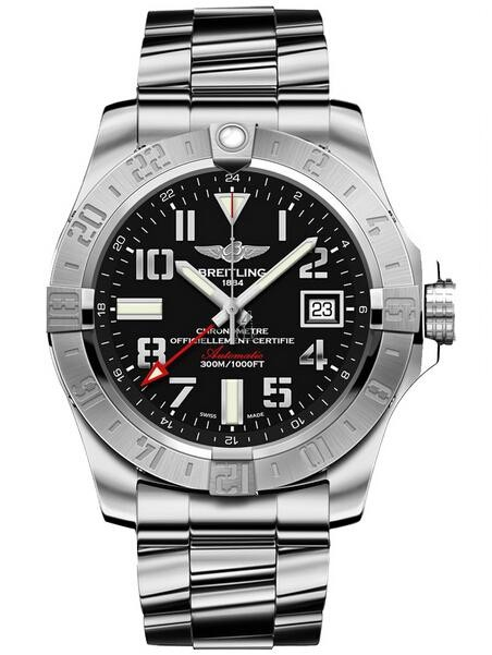 Breitling Avenger II GMT Mens Watch A3239011/BC34 170A  replica.