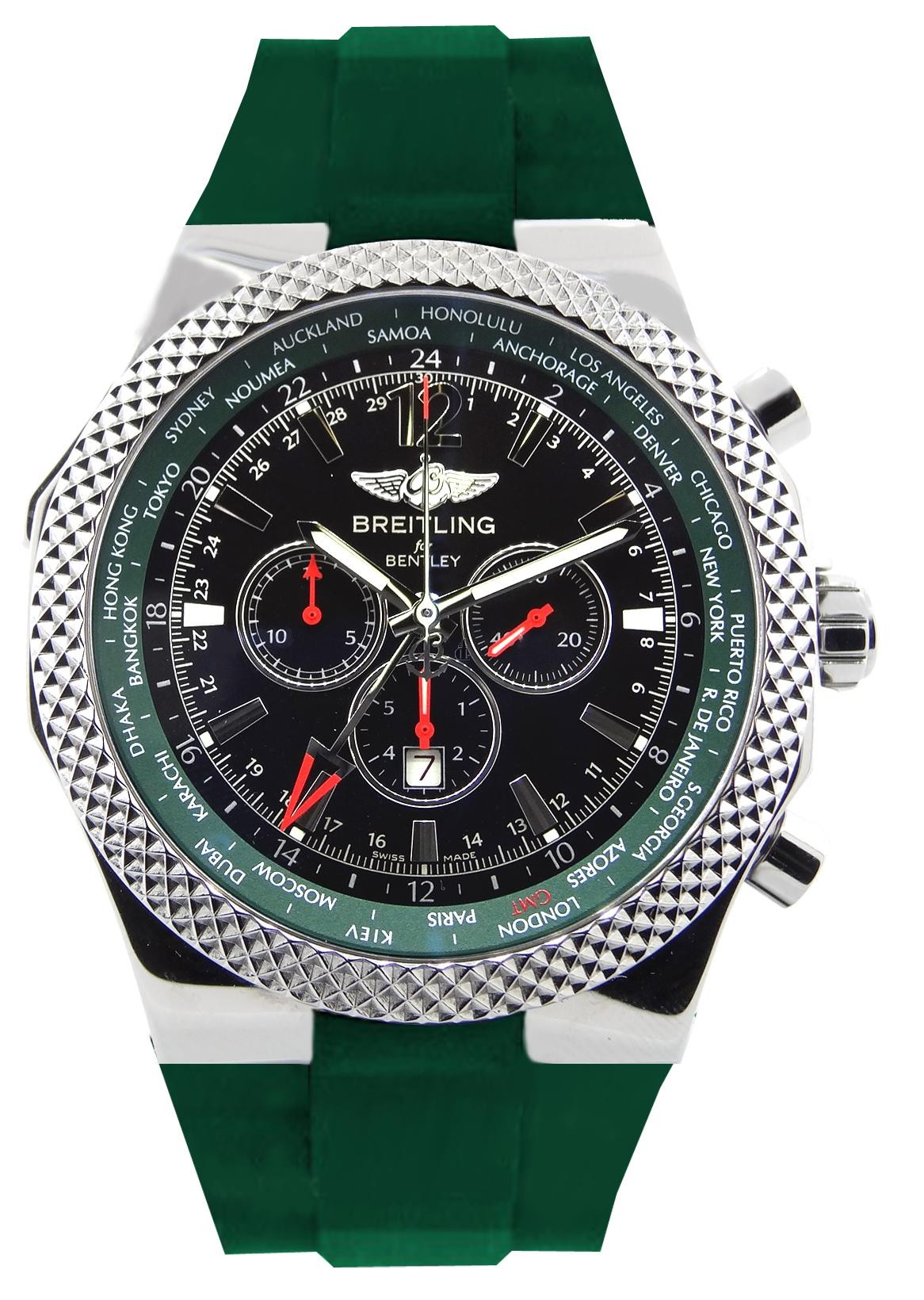 Breitling Bentley GMT British Racing Mens Watch A47362S4/B919/214S  replica.