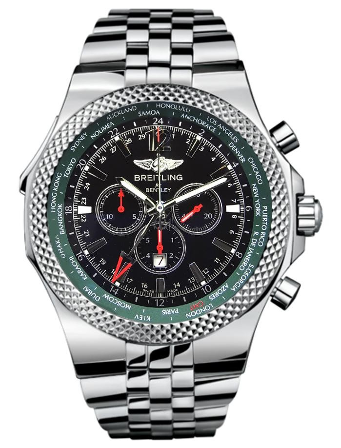 Breitling Bentley GMT British Racing Mens Watch A47362S4/B919/998A  replica.