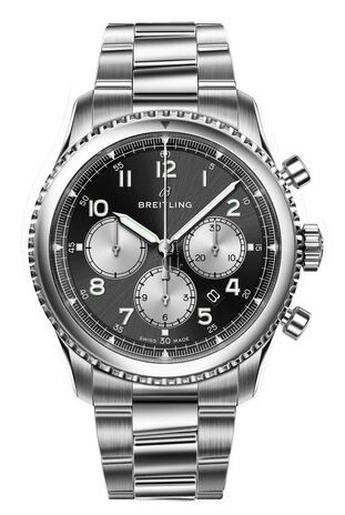 Breitling Navitimer 8 B01 Black Dial and Steel Bracelet AB0117131B1A1