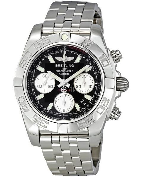 Breitling Chronomat 41 Automatic Black Dial Watch AB014012/BA52  replica.
