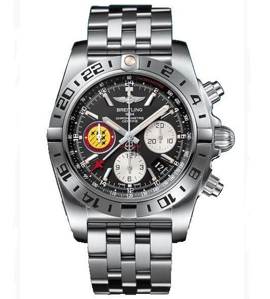 Breitling Chronomat 44 GMT Patrouille Suisse 50th Anniversary Watch AB04203J/BD29/377A  replica.