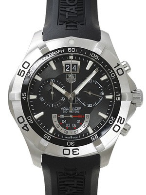 Replica Tag Heuer Aquaracer Quartz Chronograph Grande Date Watch CAF101A.FT8011