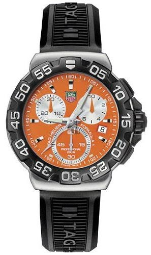 Replica Tag Heuer Formula 1 Chronograph Rubber Strap Watch CAH1113.BT0714