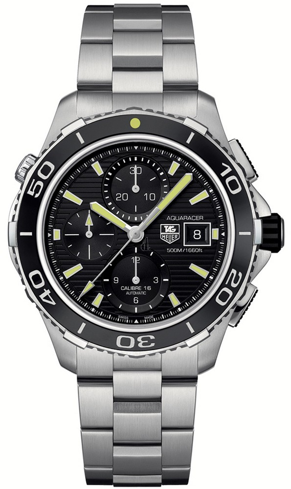 Replica Tag Heuer Aquaracer 500 M Calibre 16 Automatic Chronograph43 mm CAK2111.BA0833