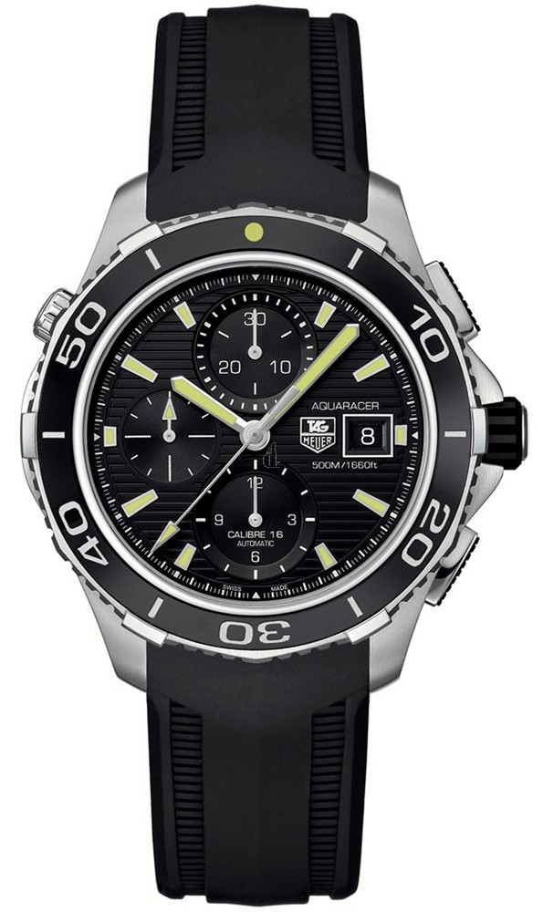 Replica Tag Heuer Aquaracer 500 M Calibre 16Automatic Chronograph43 mm  CAK2111.FT8019