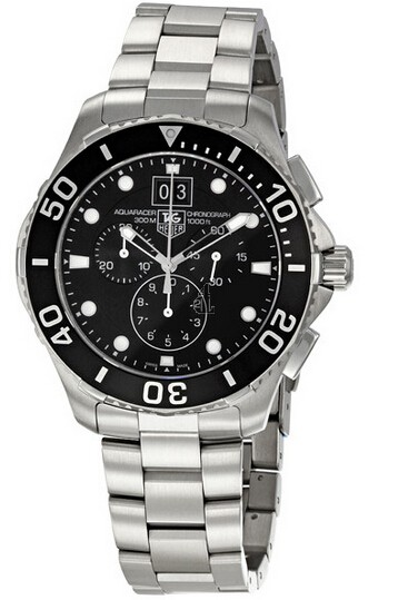 Replica Tag Heuer Aquaracer Grande Date Chronograph 43 mm CAN1010.BA0821