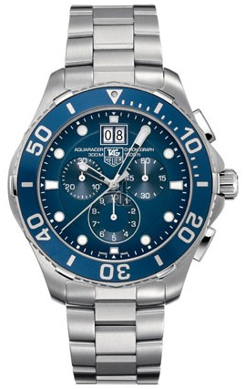 Replica Tag Heuer Aquaracer Grande Date Chronograph 43 mm CAN1011.BA0821