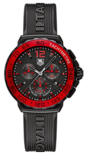 Replica Tag Heuer Formula 1 Chronograph Black Dial Mens Watch  CAU1117.FT6024