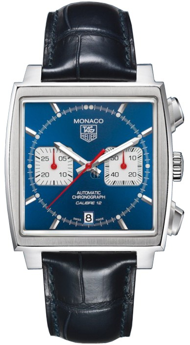 Replica Tag Heuer Monaco Calibre 12Automatic Chronograph39 mm CAW2111.FC6183