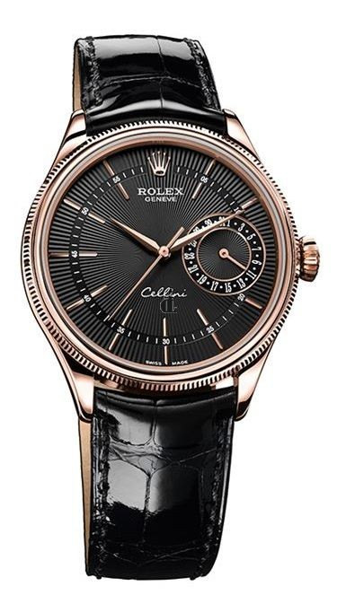 Fake Rolex Cellini Date Everose Gold Watch 50515 bkbk