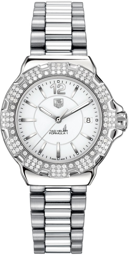 Replica Tag Heuer Formula 1 Ladies Steel and Ceramic Full Diamonds37mm WAH1218.BA0852