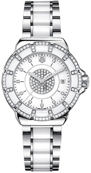 Replica Tag Heuer Ladies Formula 1 Steel & Ceramic Diamond Watch WAH121D.BA0861