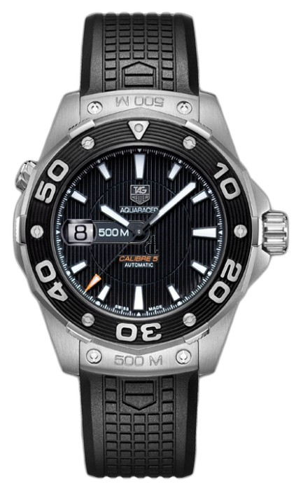 Replica Tag Heuer Aquaracer 500 M Calibre 5 Automatic Watch 43 mm WAJ2110.FT6015