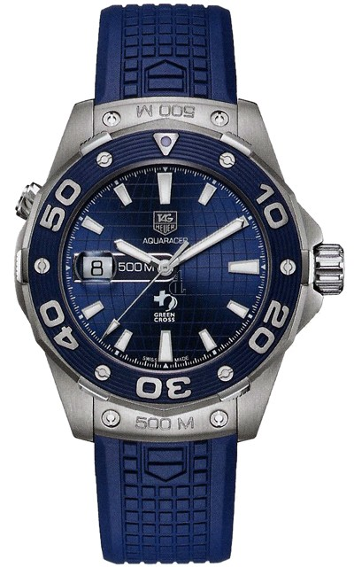Replica Tag Heuer Aquaracer Leonardo DiCaprio Limited Edition 500M Mens Watch WAJ2116.FT6022
