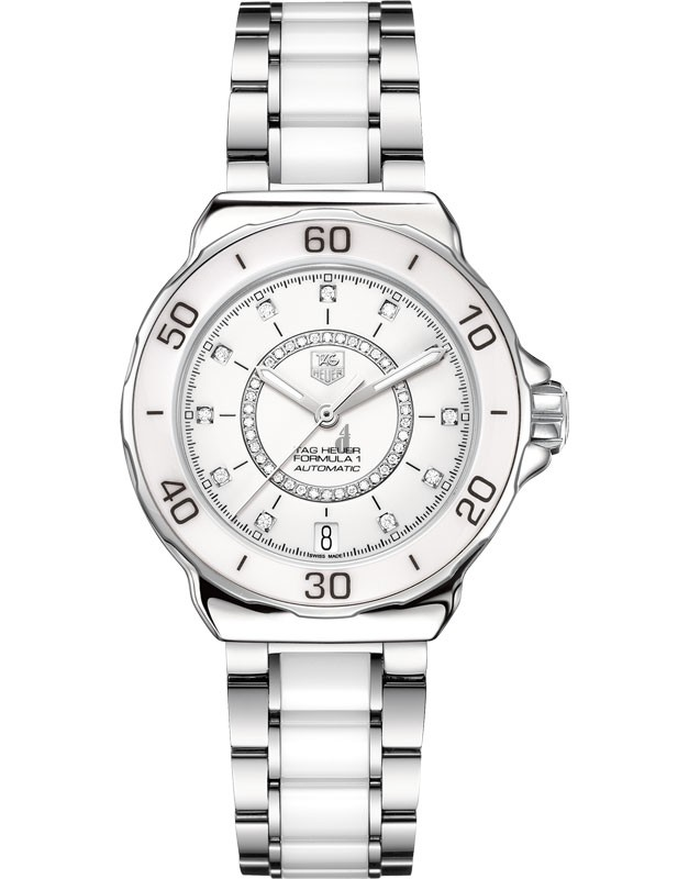 Replica Tag Heuer Formula 1 Ladies Steel and Ceramic Diamond dialAutomatic watch  WAU2211.BA0861