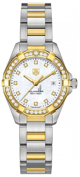 Replica Tag Heuer Aquaracer 300M Steel & Yellow Gold 27 MM WAY1453.BD0922
