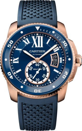Calibre de Cartier Diver blue watch WGCA0010 imitation