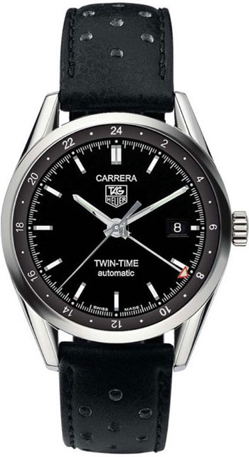 Replica Tag Heuer Carrera Twin Time Mens Watch WV2115.FC6182