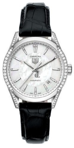 Replica Tag Heuer Carrera Mother of Pearl Ladies Watch  WV2212.FC6302