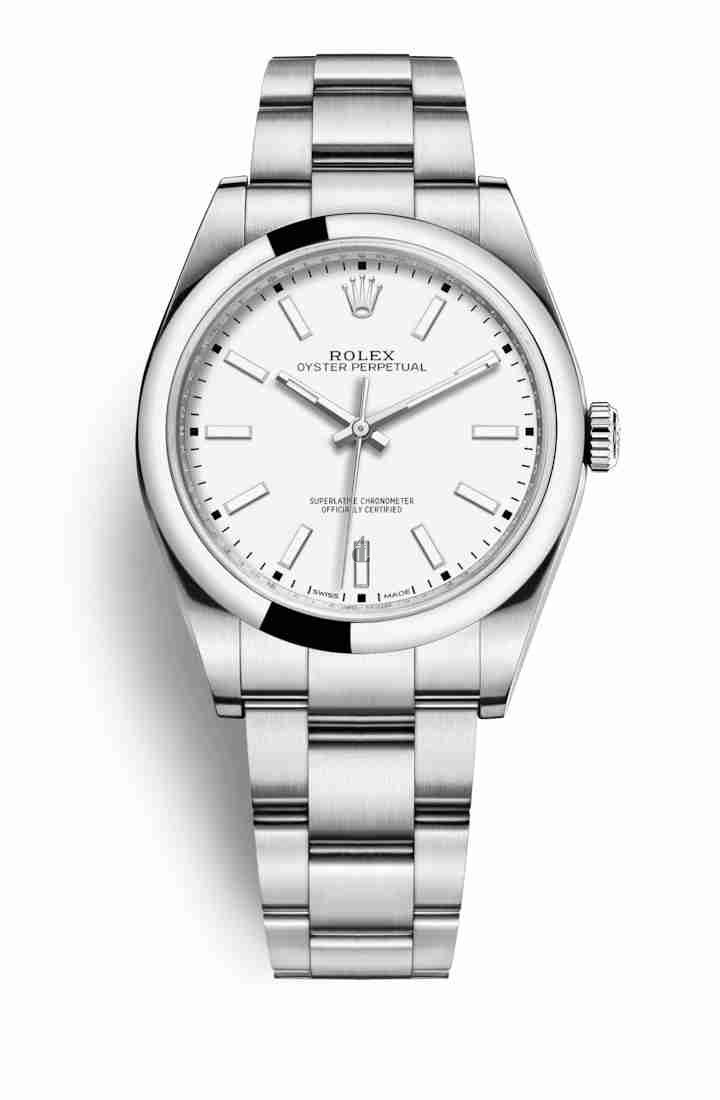 Rolex Oyster Perpetual 39 Oystersteel 114300 White Dial