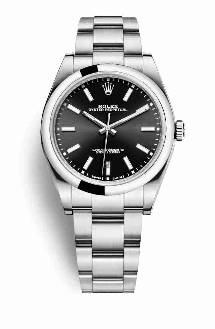 Rolex Oyster Perpetual 39 Oystersteel 114300 Black Dial