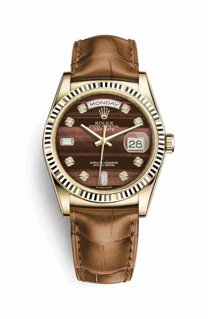 Rolex Day-Date 36 yellow gold 118138 Bull's eye set diamonds Dial