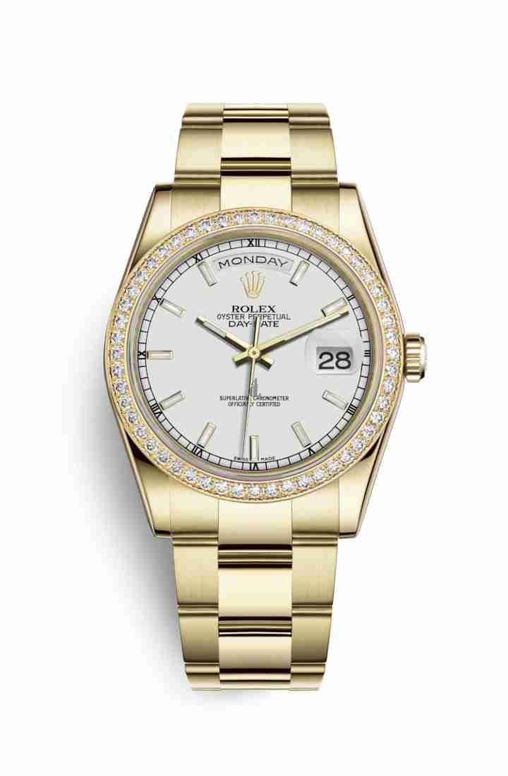 Rolex Day-Date 36 yellow gold 118348 White Dial