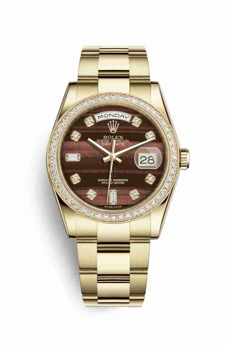 Rolex Day-Date 36 yellow gold 118348 Bull's eye set diamonds Dial
