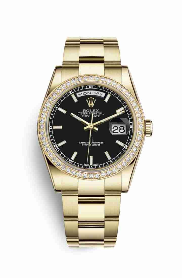 Rolex Day-Date 36 yellow gold 118348 Black Dial