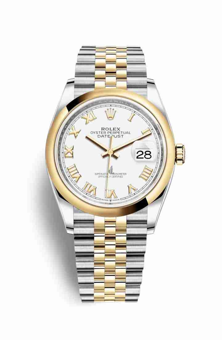 Rolex Datejust 36 Yellow Rolesor Oystersteel yellow gold 126203 White Dial