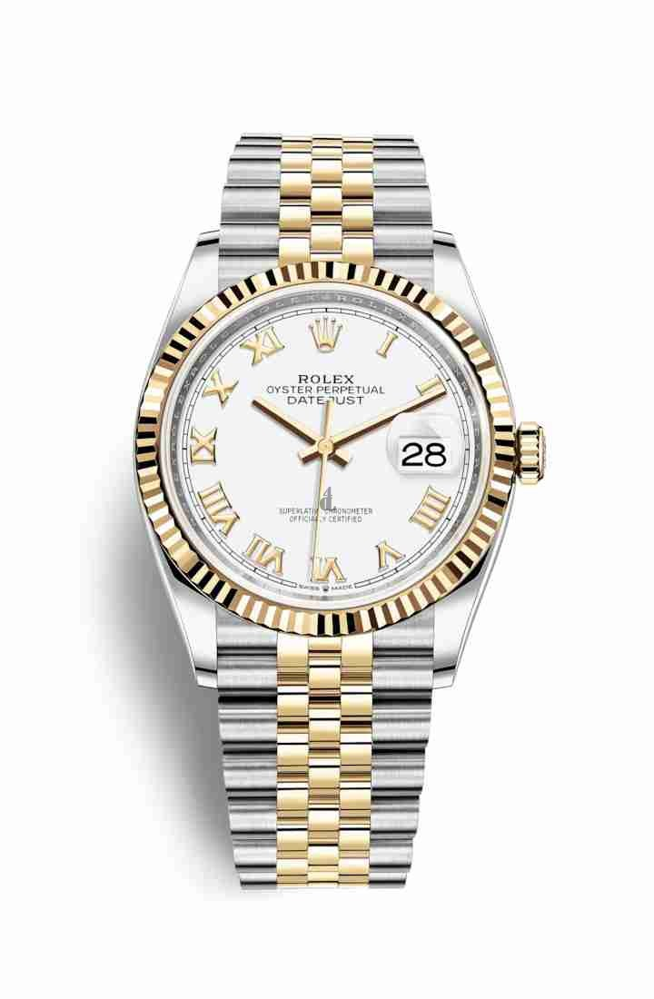 Rolex Datejust 36 Yellow Rolesor Oystersteel yellow gold 126233 White Dial