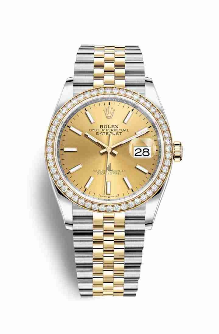 Rolex Datejust 36 Yellow Rolesor Oystersteel yellow gold 126283RBR Champagne-colour Dial