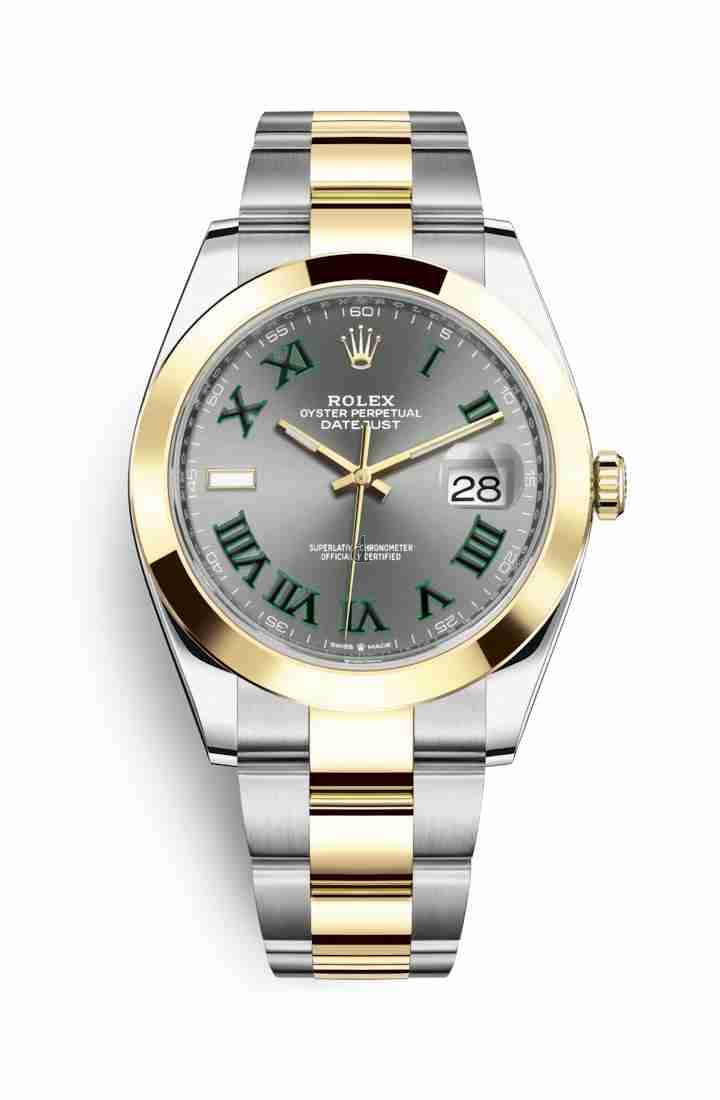 Rolex Datejust 41 Yellow Rolesor Oystersteel yellow gold 126303 Slate Dial
