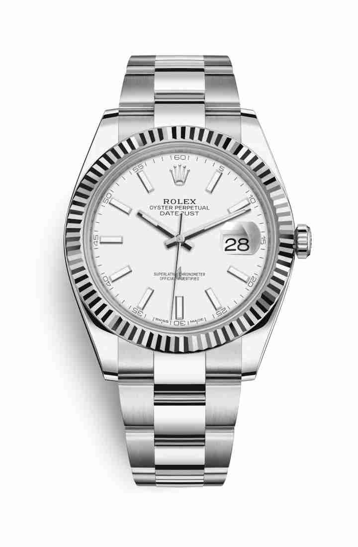 Rolex Datejust 41 White Rolesor Oystersteel white gold 126334 White Dial