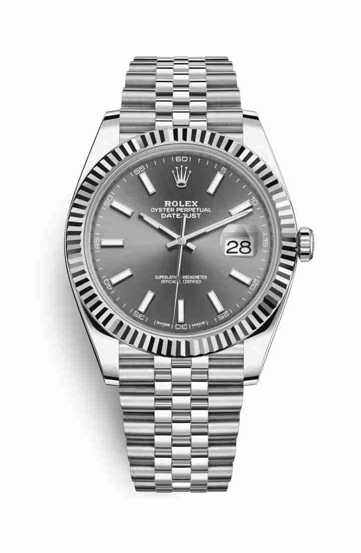 Rolex Datejust 41 White Rolesor Oystersteel white gold 126334 Dark rhodium Dial
