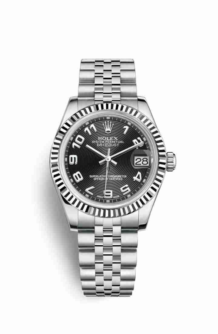Rolex Datejust 31 White Rolesor Oystersteel white gold 178274 Black Dial