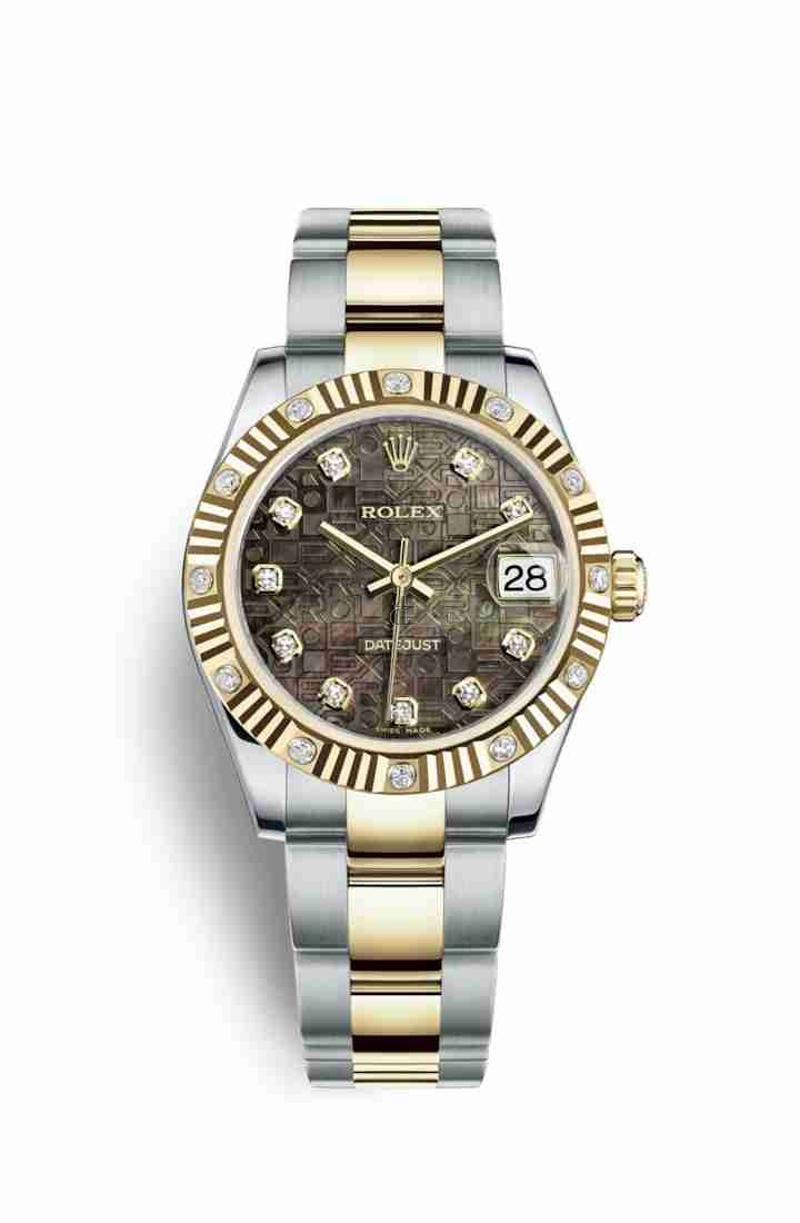 Rolex Datejust 31 Yellow Rolesor Oystersteel yellow gold 178313 Black mother-of-pearl Jubilee design set diamonds Dial