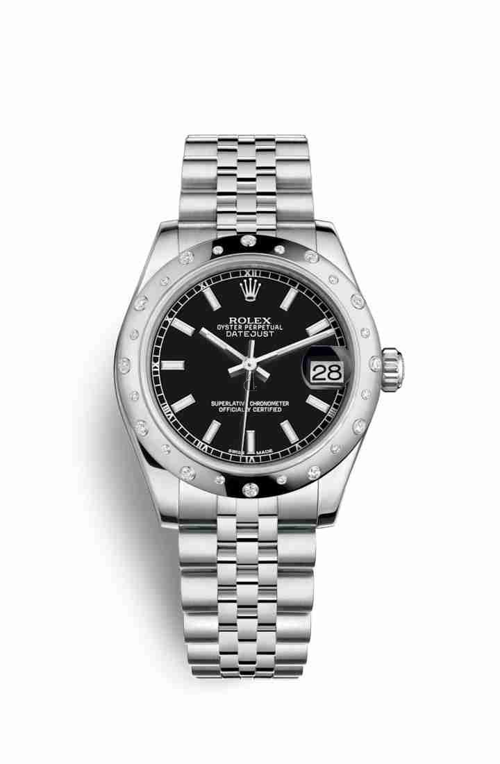 Rolex Datejust 31 White Rolesor Oystersteel white gold 178344 Black Dial
