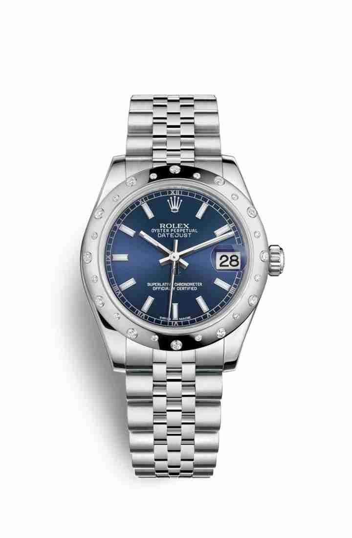 Rolex Datejust 31 White Rolesor Oystersteel white gold 178344 Blue Dial