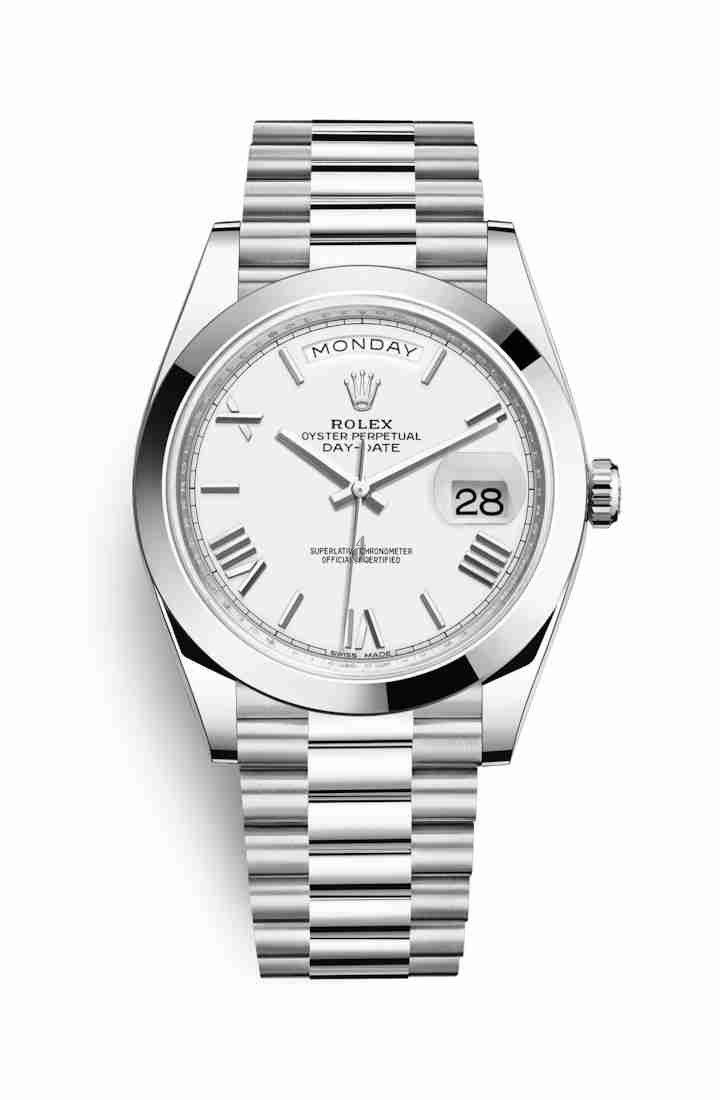 Rolex Day-Date 40 Platinum 228206 White Dial