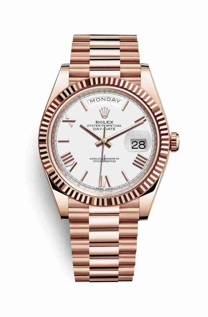 Rolex Day-Date 40 Everose gold 228235 White Dial