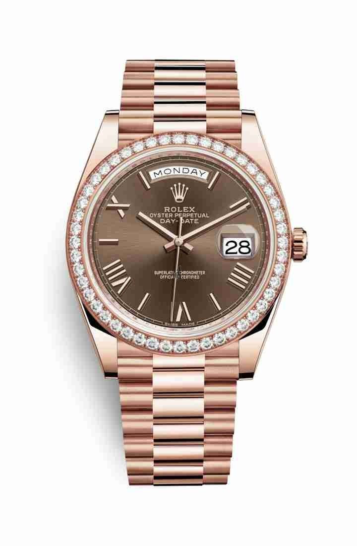 Rolex Day-Date 40 Everose gold 228345RBR Chocolate Dial