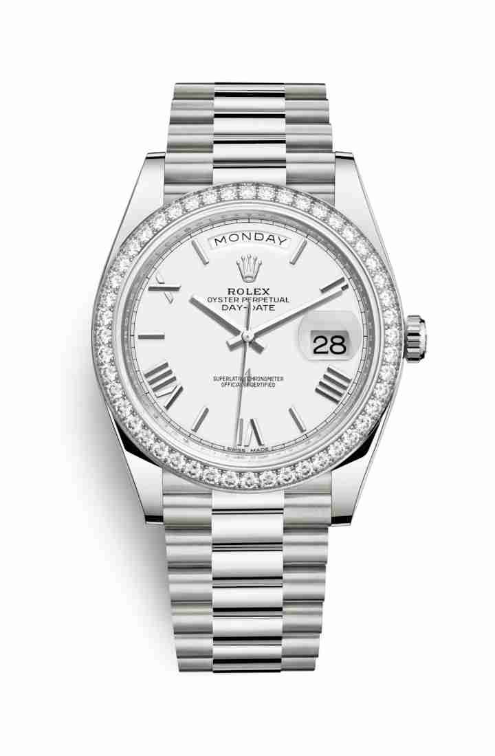 Rolex Day-Date 40 white gold 228349RBR White Dial
